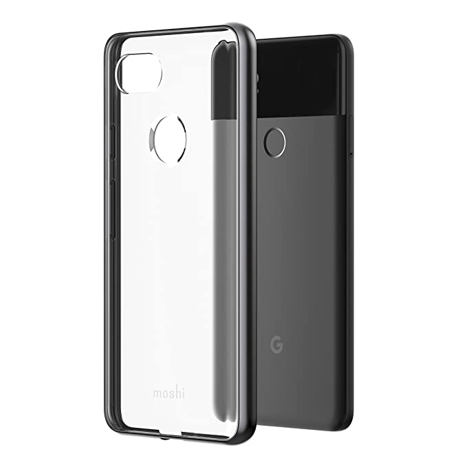 factory authentic 27bfe b8d1b Moshi Vitros for Google Pixel 2 XL - Clear Protective case (Titanium Gray)