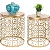 Best Choice Products Set of 2 Decorative Round Accent Side Coffee End Table Nightstands for Living Room, Bedroom, Office, Hom