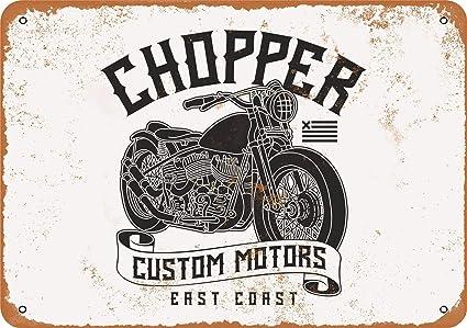East Coast Motors >> Amazon Com 7 X 10 Metal Sign Chopper Custom Motors East