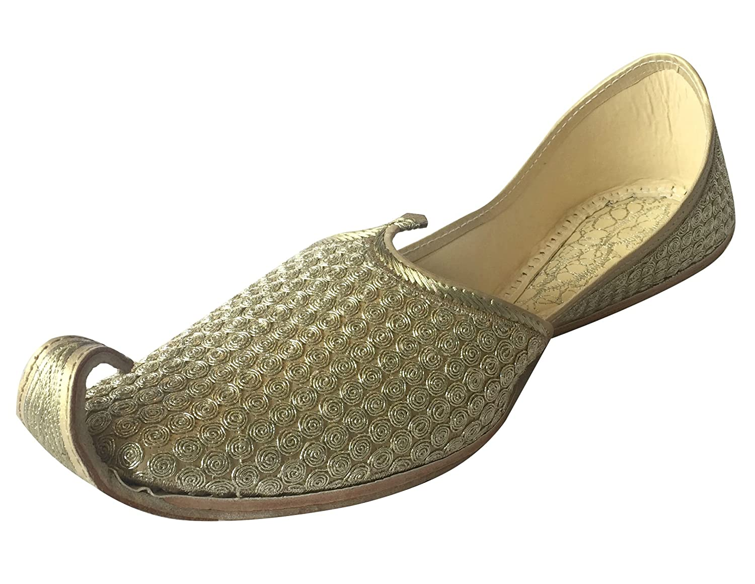d0ca17d2939 Step n Style Mens Punjabi Jutti Sherwani Shoes Golden Khussa Shoes Ethnic  Footwear  Buy Online at Low Prices in India - Amazon.in
