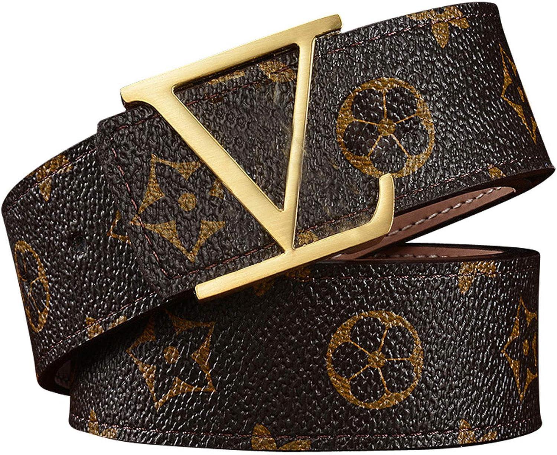 Mens Golden Classic Retro Metal Buckle Belt Business Casual Belt