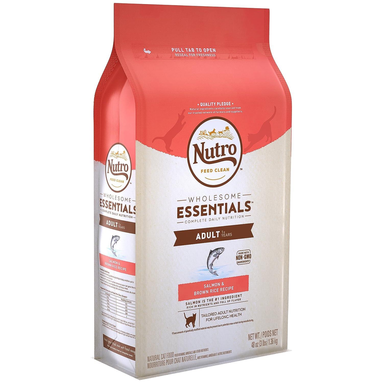 Amazon.com : Nutro Wholesome Essentials Adult Dry Cat Food Salmon & Brown Rice Recipe, 3 Lb. Bag : Pet Supplies
