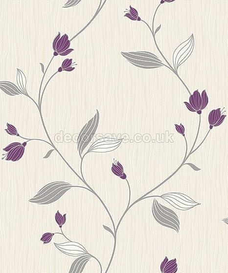 Flower wallpaper floral luxury textured vinyl metallic silver purple flower wallpaper floral luxury textured vinyl metallic silver purple white mightylinksfo
