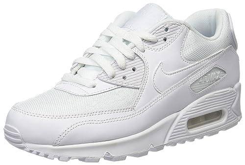 Nike Air Max 90 Blanco Nike Air Max 90 Mens Zapatos de cuero