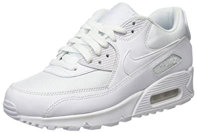 more photos a4bde d514f NIKE Men s Air Max 90 Essential, White Tour Yellow-Blue Recall, 7
