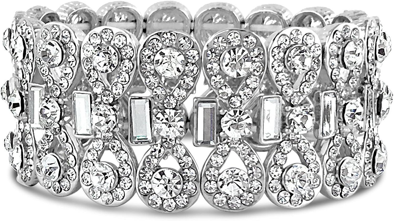 Bridal Loops Bowtie Rhinestone Crystal Bracelet