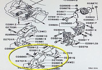 Genuine Mitsubishi frontal Motor Mount/Roll - Soporte Stop mb581703 3000 GT Turbo Stealth Turbo 1991 1992 1993 1994 1995 1996 1997 1998 1999: Amazon.es: ...