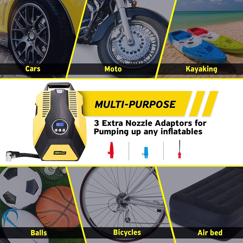 Amazon.com: Portable Car Tire Bomba Compresor de aire ...