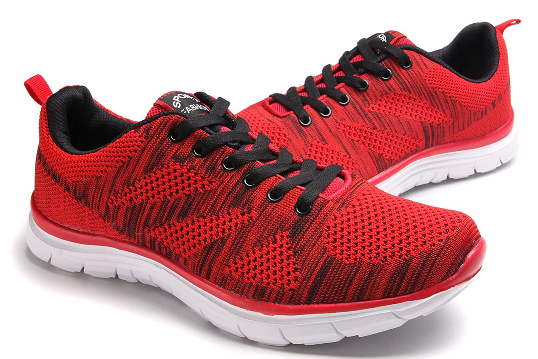 clapzovr - Zapatillas para hombre, color rojo, talla 7.5 UK