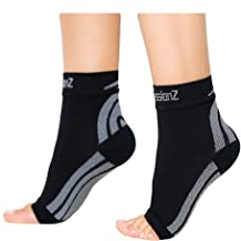 CompressionZ Plantar Fasciitis Socks - Compression Foot Sleeves - Ankle Brace w/Arch Support - Pain Relief for Heel Spurs