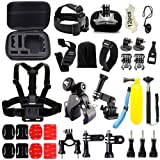 Iextreme 43-in-1 Action Camera Accessory Bundle for GoPro Hero Session Hero 1/2/3/4/5 Xiaomi Yi SJCAM SJ4000/5000/6000 OKAA Amkov DBPOWER GitUp AEE Firefly