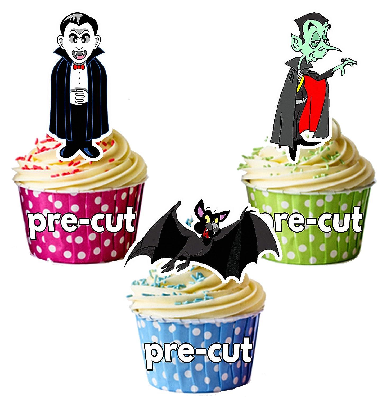 vorgeschnittenen Halloween Vampire Party Mix essbare Cupcake Topper/Kuchen Dekorationen (36Stück) AK Gifts