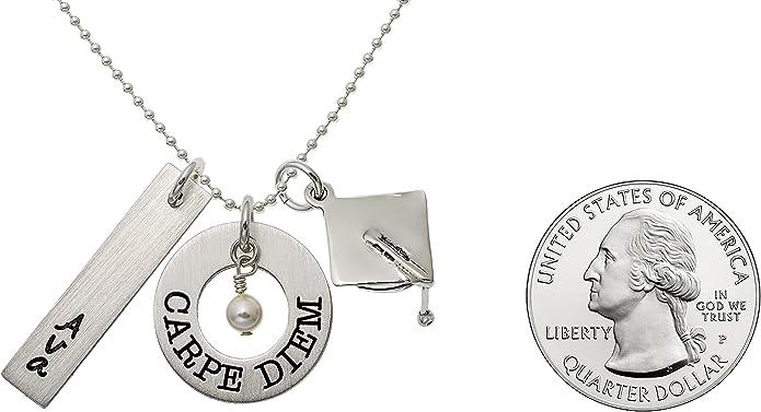 Graduation Gift Inspirational Jewelry Personalized Graduation Necklace Carpe Diem Necklace