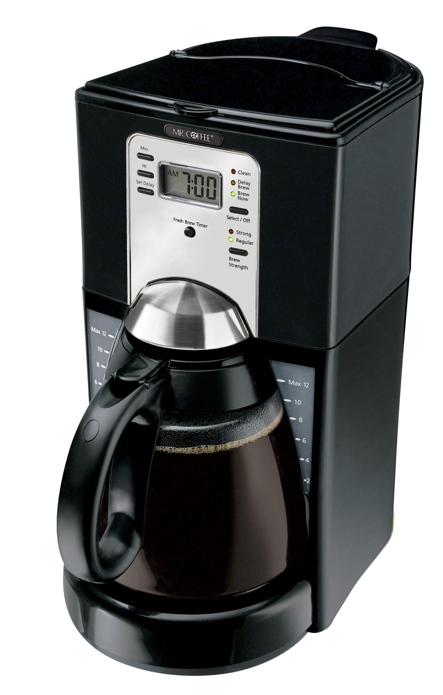 Mr. Coffee FTX43-2 12-Cup Programmable Coffeemaker, Black