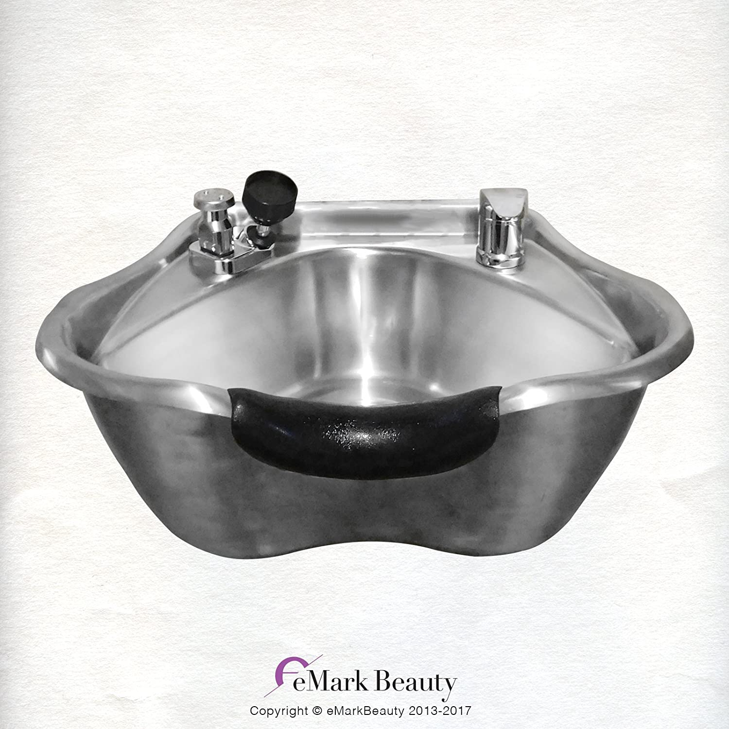 Round Stainless Steel Brushed Shampoo Bowl Beauty Salon Sink TLC-1367