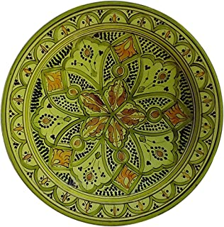 Ceramic Plates Moroccan Handmade Serving Wall Hanging Exquisite Colors Decorative 14 inches Diameter  sc 1 st  Amazon.com & Amazon.com : Ceramic Plates Moroccan Handmade Serving Wall Hanging ...
