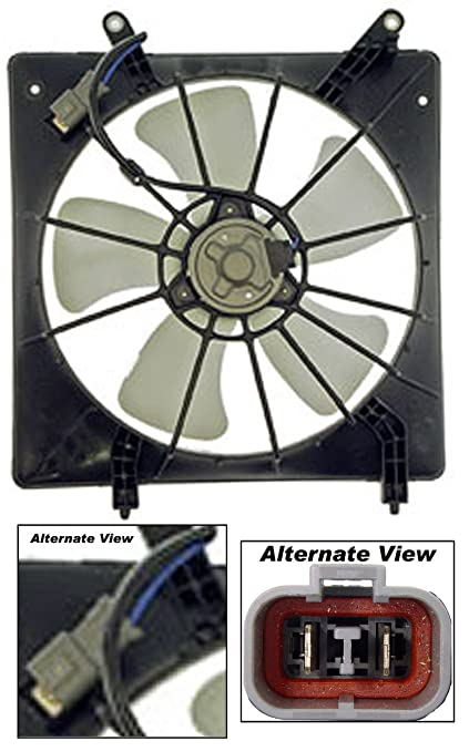 APDTY 731338 Radiator Cooling Fan Blade Motor Shroud Assembly Fits 1998-2002 Honda Accord 2.3