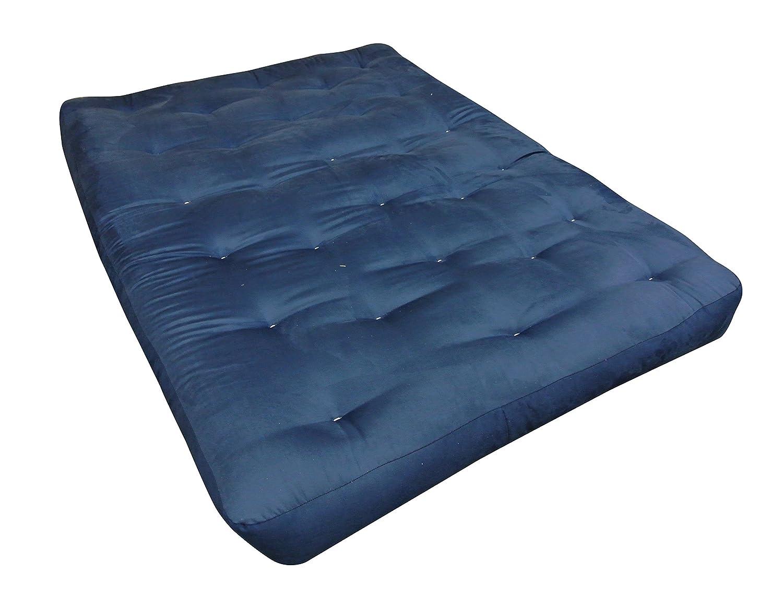 Blue 7 H x 30 W x 75 L 7 H x 30 W x 75 L Gold Bond 0624F0-0115 FeatherTouch I Cotton Futon Mattress Microfiber