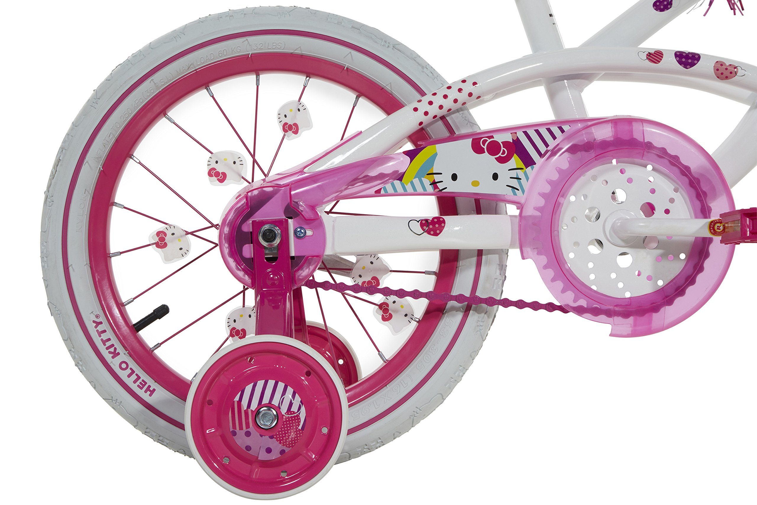 Hello Kitty Girls Bike with Light Up Case, White/pink, 16'' by Hello Kitty (Image #4)