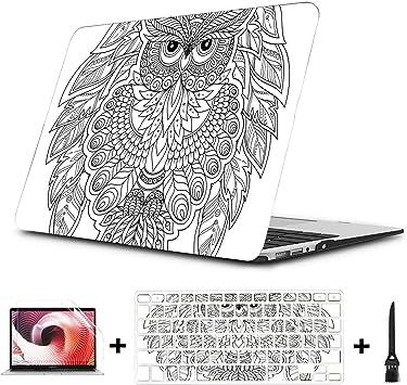Libro para Colorear para Adultos y niños Mayores Macbook Air/Pro 11/12/13/15 Inch Estuche de plástico Estuche rígido Carcasa Apple Macbook Funda Mac Book Laptop Macbook Case: Amazon.es: Electrónica