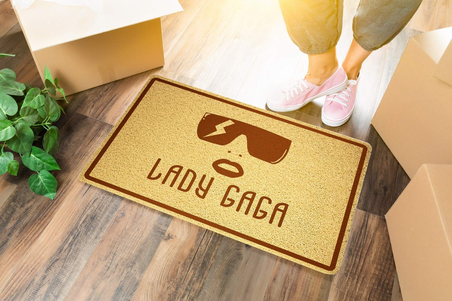 LADY GAGA Doormat Sweet Home Supplies D/écor Accessories Unique Gift Handmade Present Idea Original Design Commercial Outside Inside Personalized Quotes Exterior