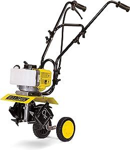Champion Power Equipment 100882 43cc 2-Stroke Portable Gas Garden Tiller Cultivator, Adjustable Depth