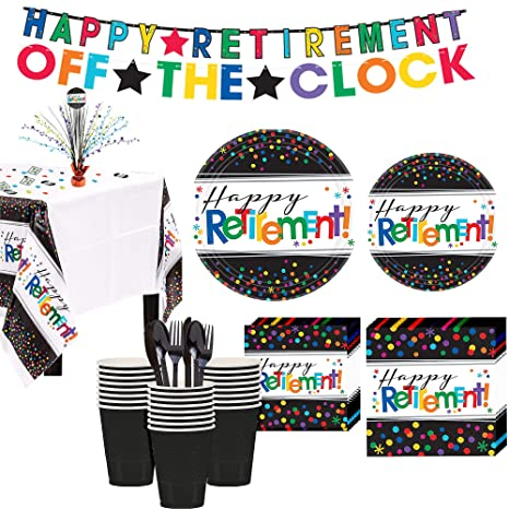 Amazon.com: Party City Happy Retirement Kit de fiesta para ...