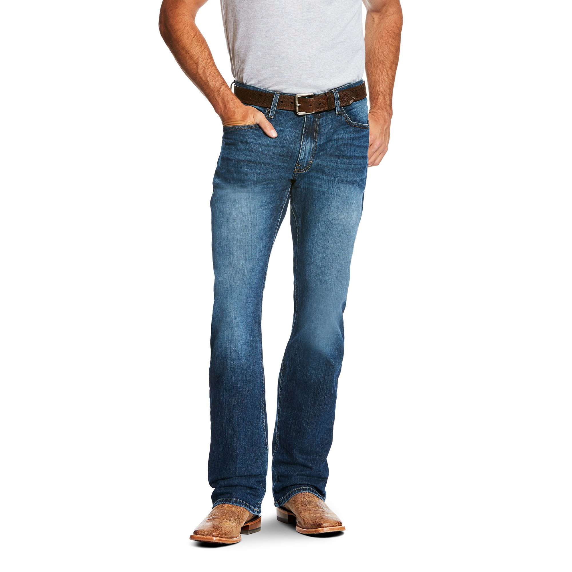 Ariat Men's M4 Low Rise Boot Cut Jean, Stretch Freeman, 33X34