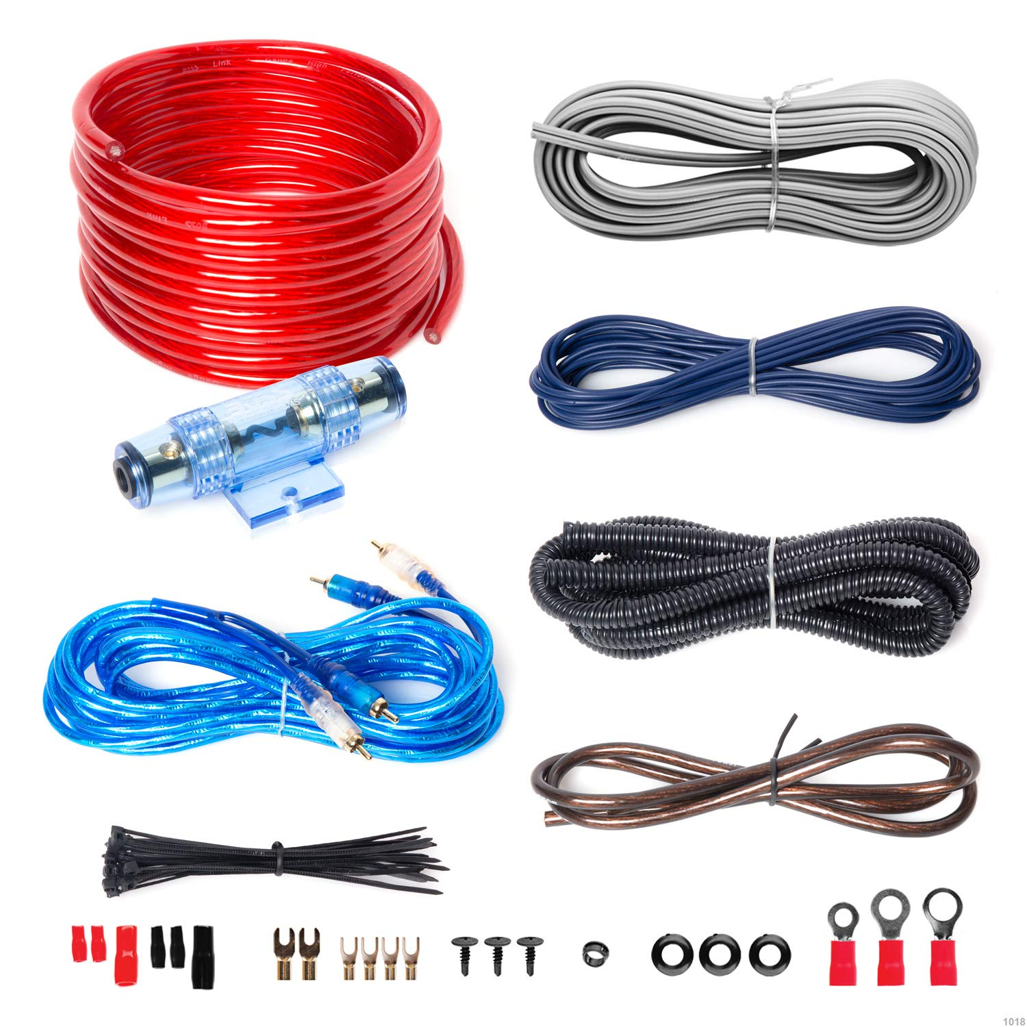 Amazon Com Boss Audio Kit2 8 Gauge Amplifier Installation Wiring Sub Wiring Kit Near Me Boss