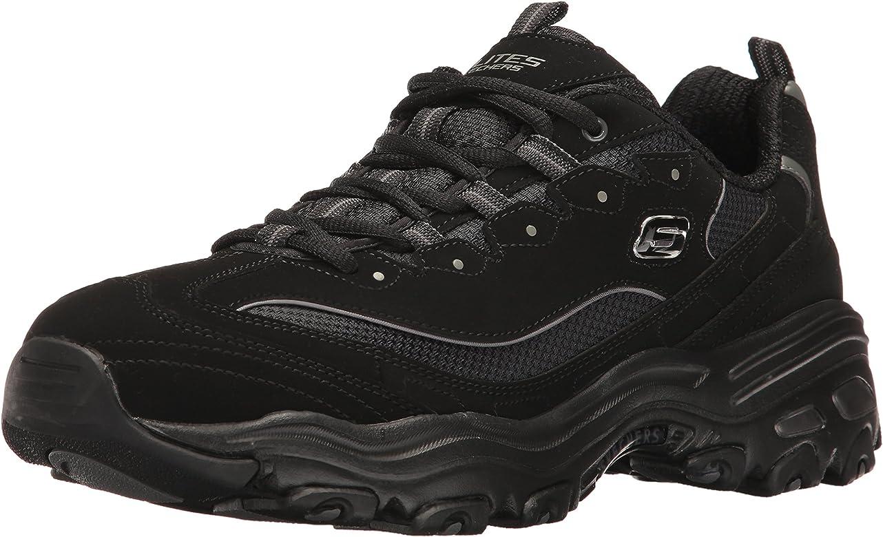 Skechers D'Lites Extreme Unisex Walking Shoe BlackWhite