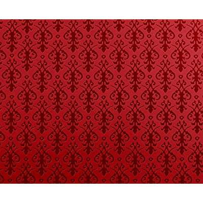 Melody Jane Dolls Houses House Miniature Print 1:12 Victorian Red On Arabesque Wallpaper: Toys & Games
