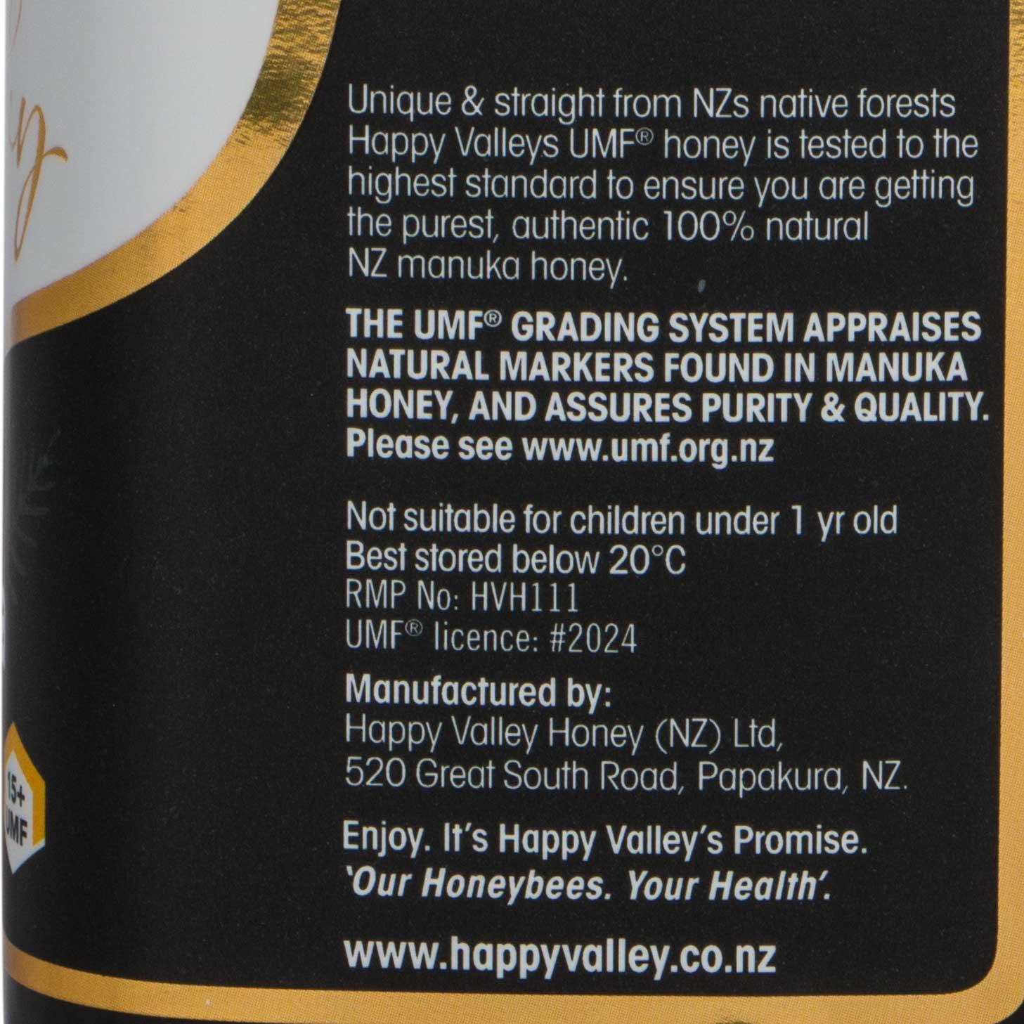 Happy Valley UMF 18+ Manuka Honey, 500g (17.6oz) by Happy Valley (Image #4)