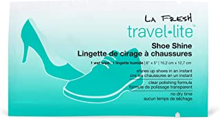 product image for LA Fresh Travel Lite Pre-Moistened Shoe Shine Wipes Pack of 50 Individually Wrapped Streak-Free Cleaning Wipes Perfect For Use On Leather Of All Colors And Convenient Size For On The Go