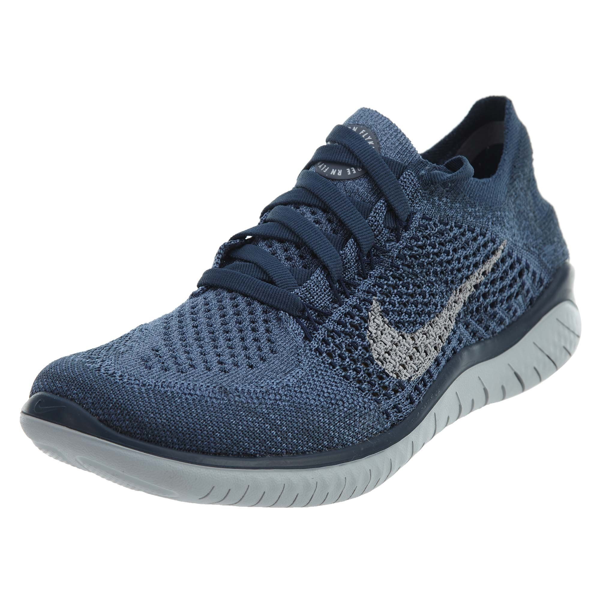 competitive price 8aad2 65aa0 Galleon - NIKE Women s Free RN Flyknit 2018 Squadron Blue Pure Platinum-Light  Carbon 7.5