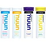 Nuun Hydration: Vitamin + Caffeine Drink Tablets, Half Caf, Box of 4 Tubes