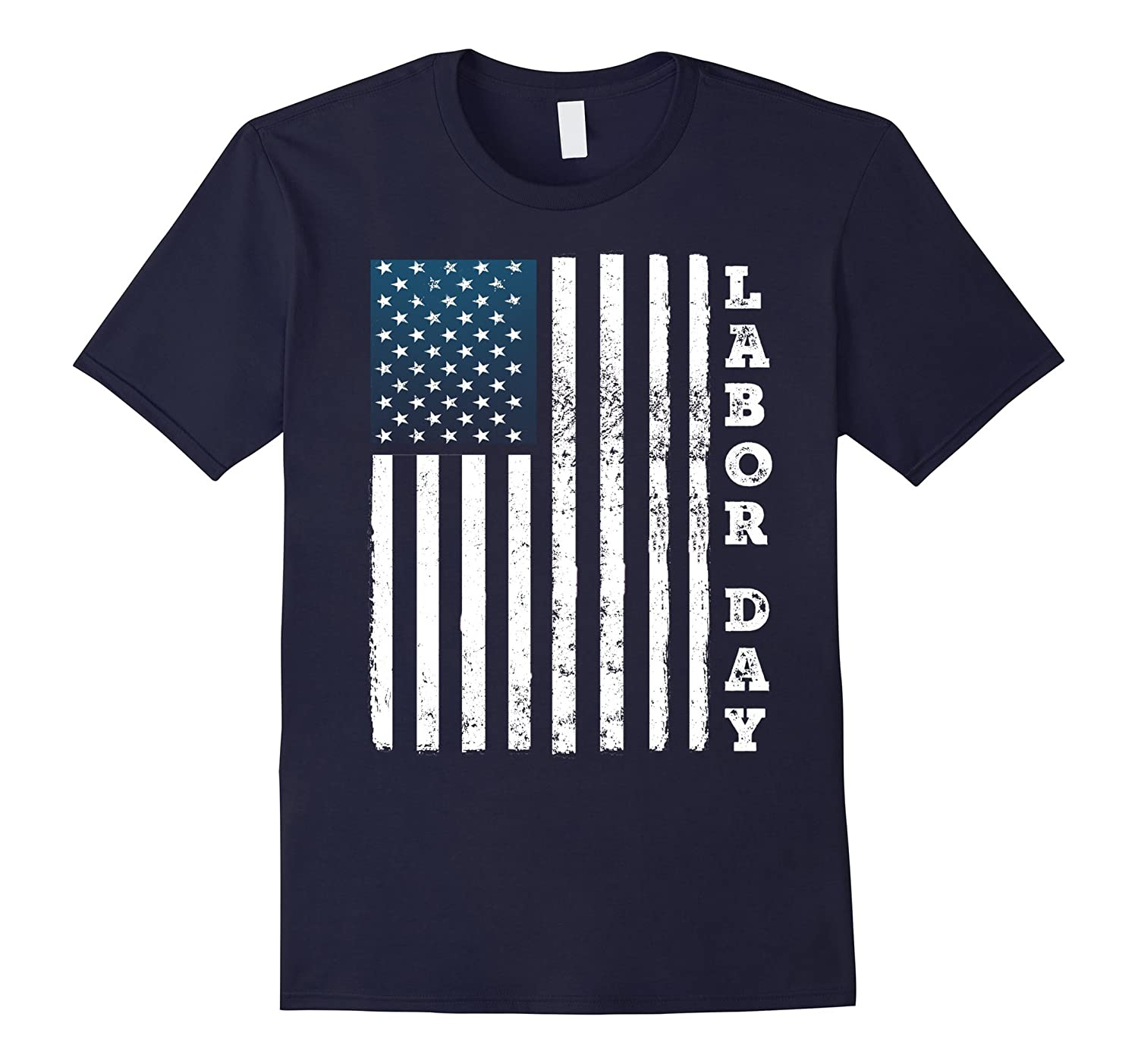 Happy Labor Day T-Shirt, American Flag Holiday t shirt-BN