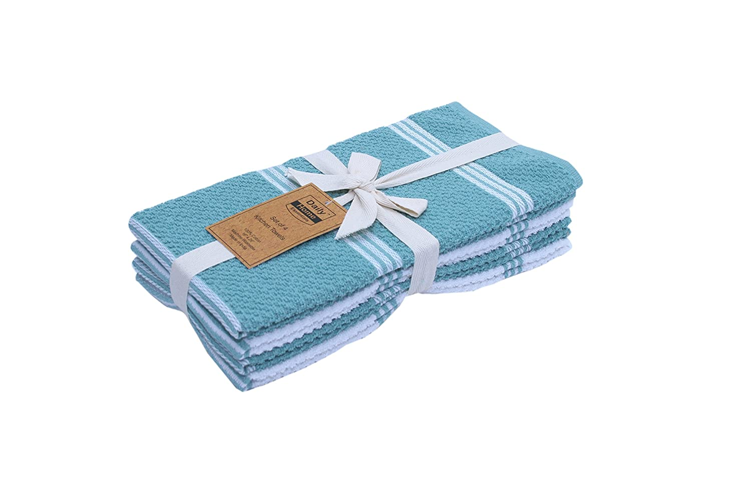 Amazon.com: Daily Home Essentials 4 Pack Ribbed Terry Kitchen Towel ...