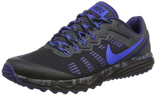 En cantidad Universidad discordia  Buy Nike Mens Dual Fusion Trail 2 Black/Hyper Cobalt/Anthracite Running  Shoe (10) at Amazon.in