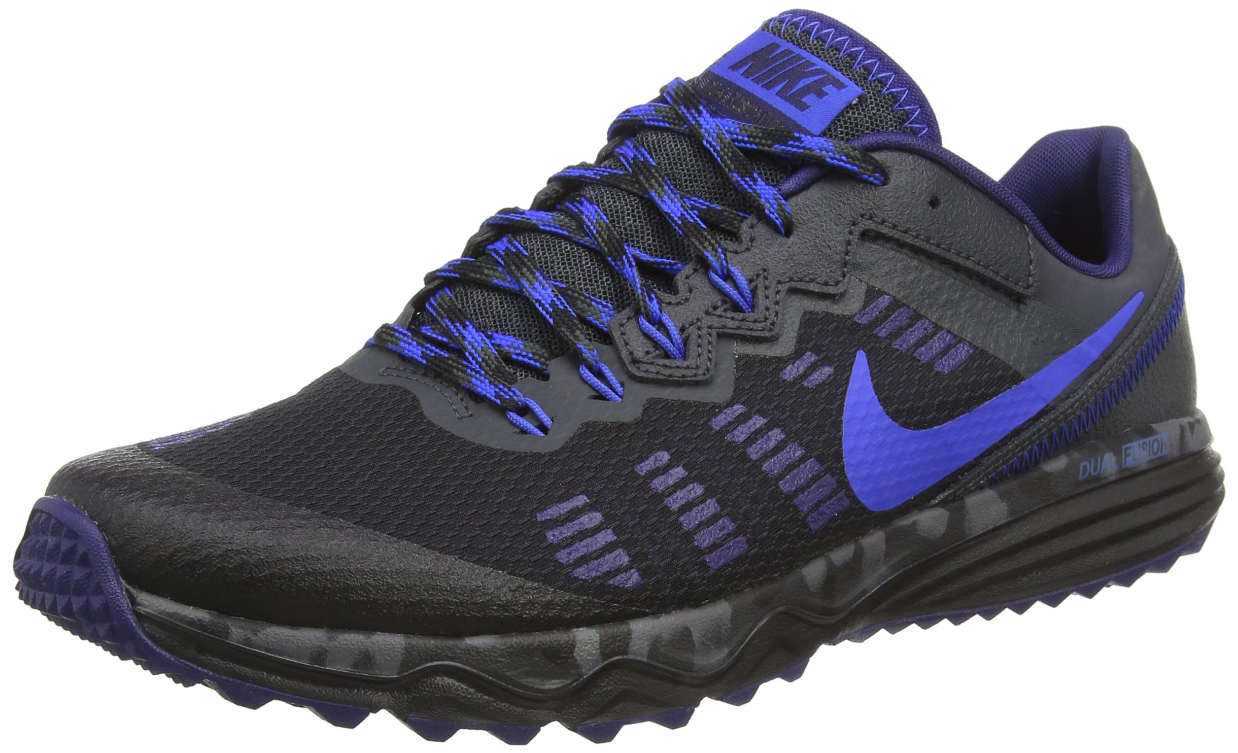 NIKE Men's Dual Fusion Trail 2 Running Shoe (10 D(M) US, Black/Hyper Cobalt/Anthracite/Loyal Blue)