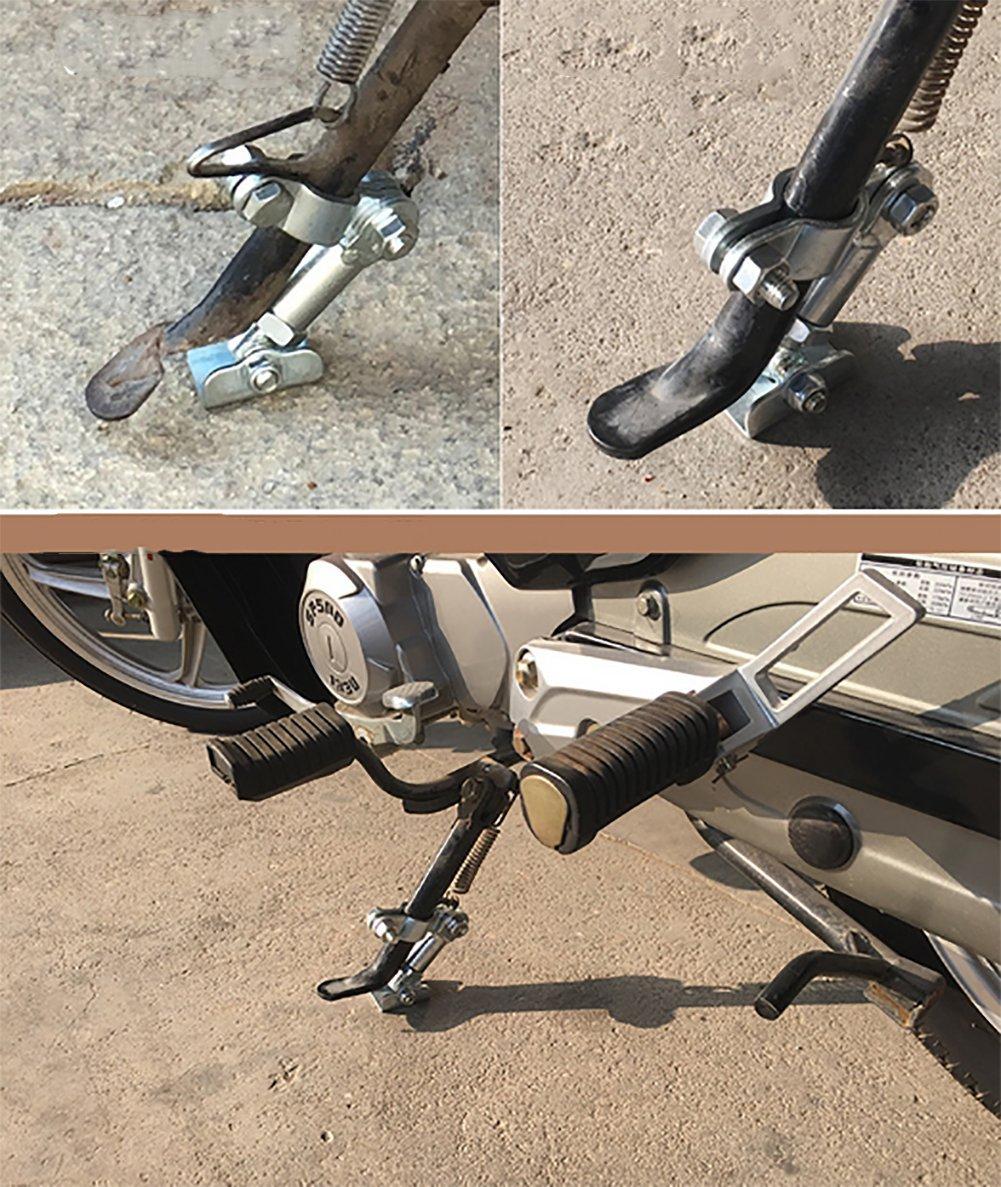 BMDHA Support De B/équille Lat/éral pour Moto Ajuster Les Pieds Support Solide Stabilisateur /Évolutif /Éviter Le Glissement Dinclinaison De La Moto