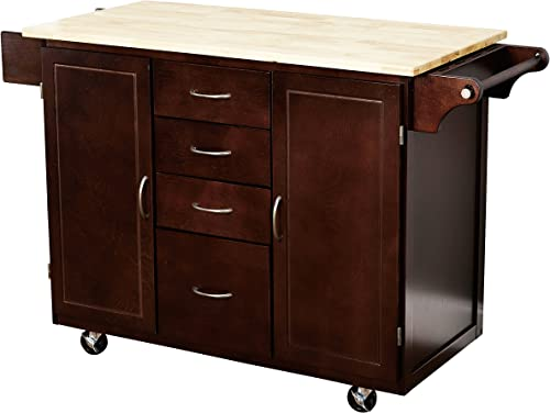 Target Marketing Systems Two-Toned Country Cottage Rolling Kitchen Cart