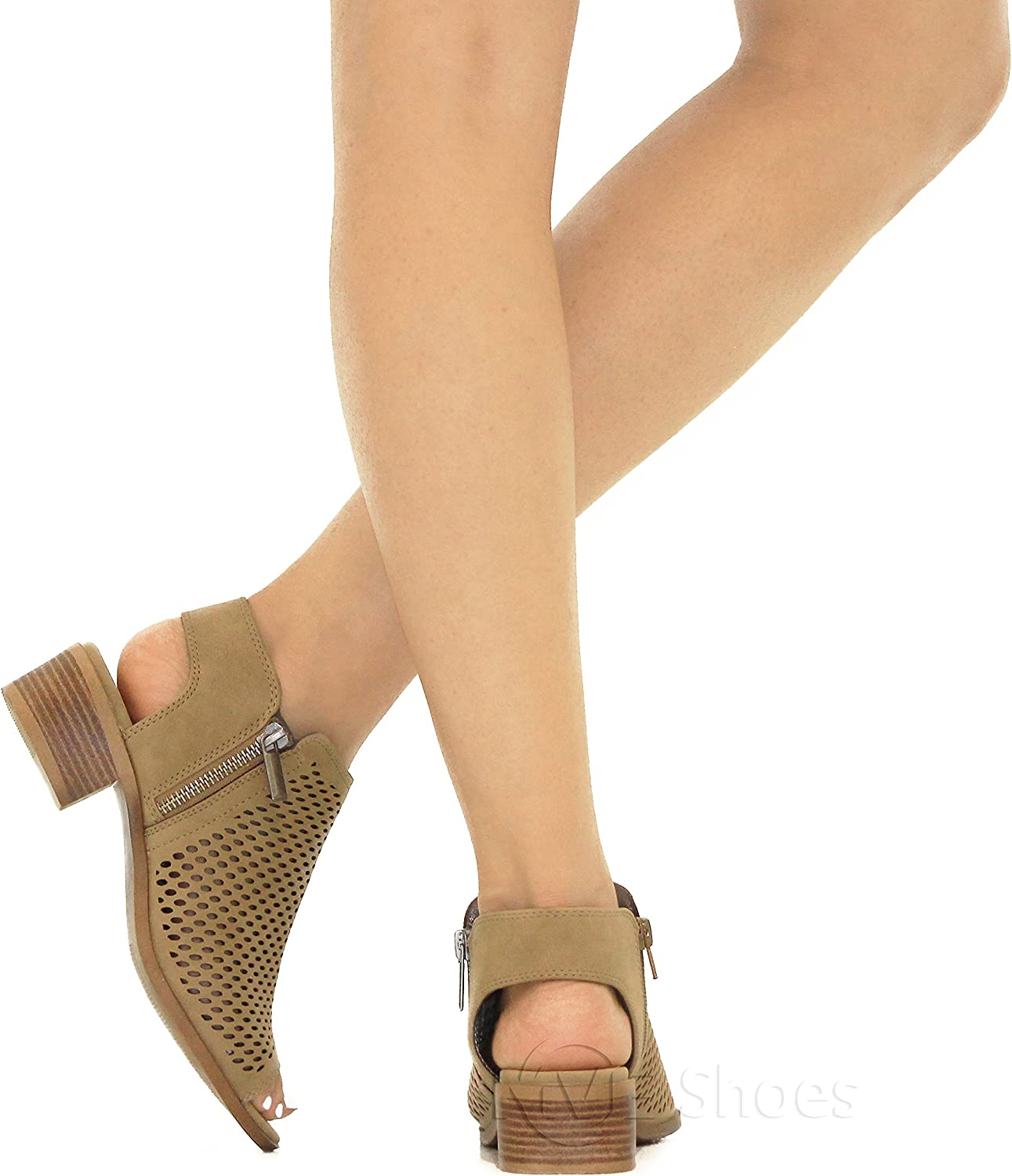 MVE Shoes Womens Laces Strappy Open Toe Flat Sandal