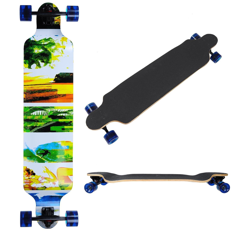 41x 9 Canadian Maple Pro Longboard Complete Longer Cruising Board Speeding Skateboard Downhill AW