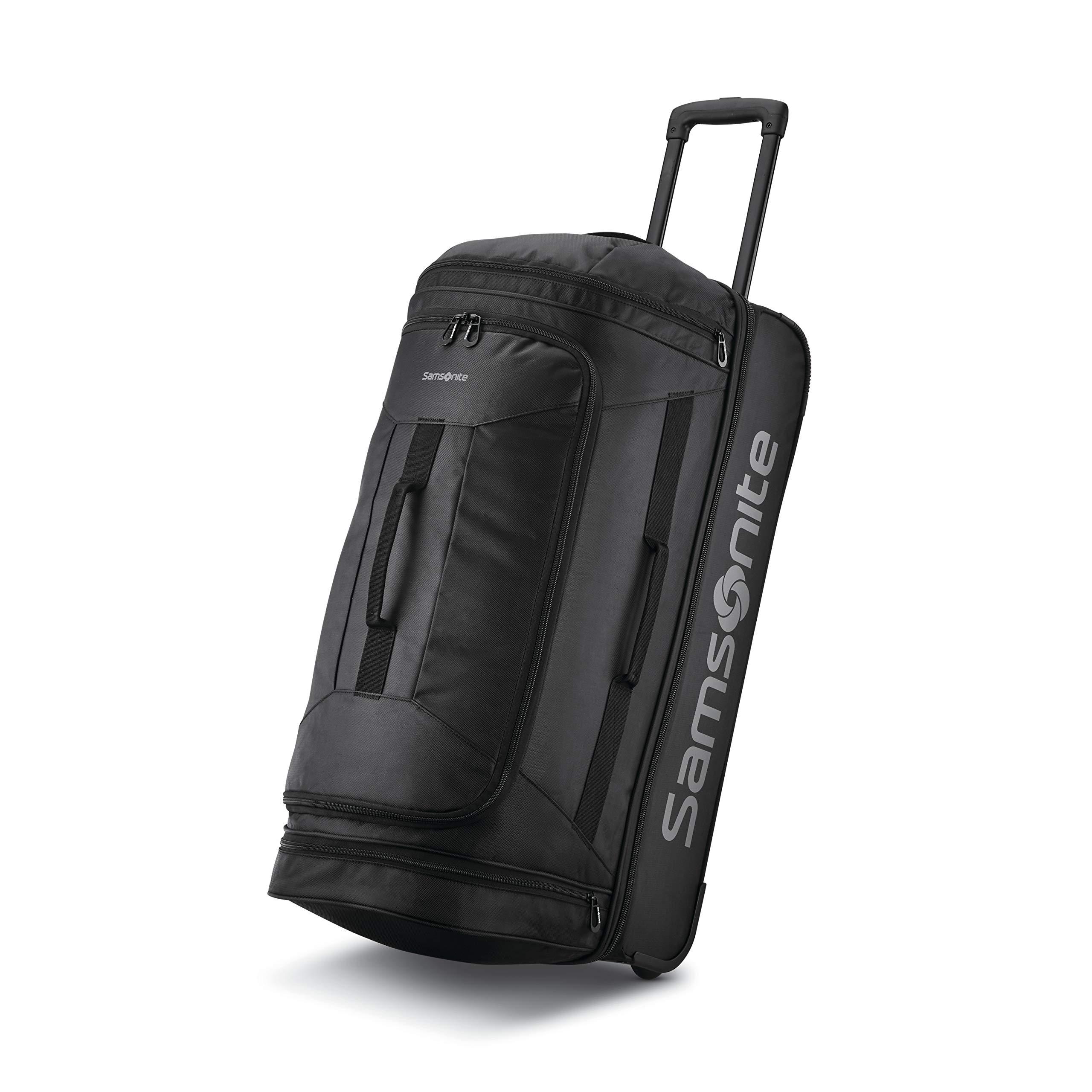 Andante 2 Drop Bottom Wheeled Rolling Duffel Bag All Black 28 Inch Buy Online In Faroe Islands At Faroe Desertcart Com Productid 101121042