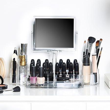 Amazon.com: Beautify Acrylic Luxury Cosmetic Makeup Holder And ...