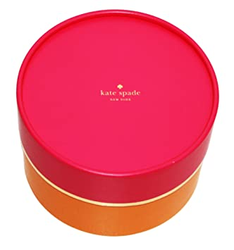 Kate Spade Center Logo Gift Box, Round Pink/Orange