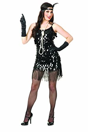 Amazon.com: Charades Women&-39-s Starlet Sequin Flapper Dress: Clothing