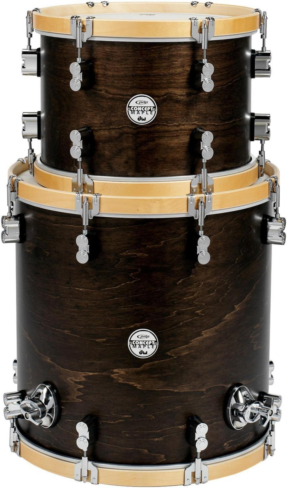 PDP Concept Maple Classic 2-piece Tom Pack - 13''/16'' - Tobacco/Natural by Pacific Drums