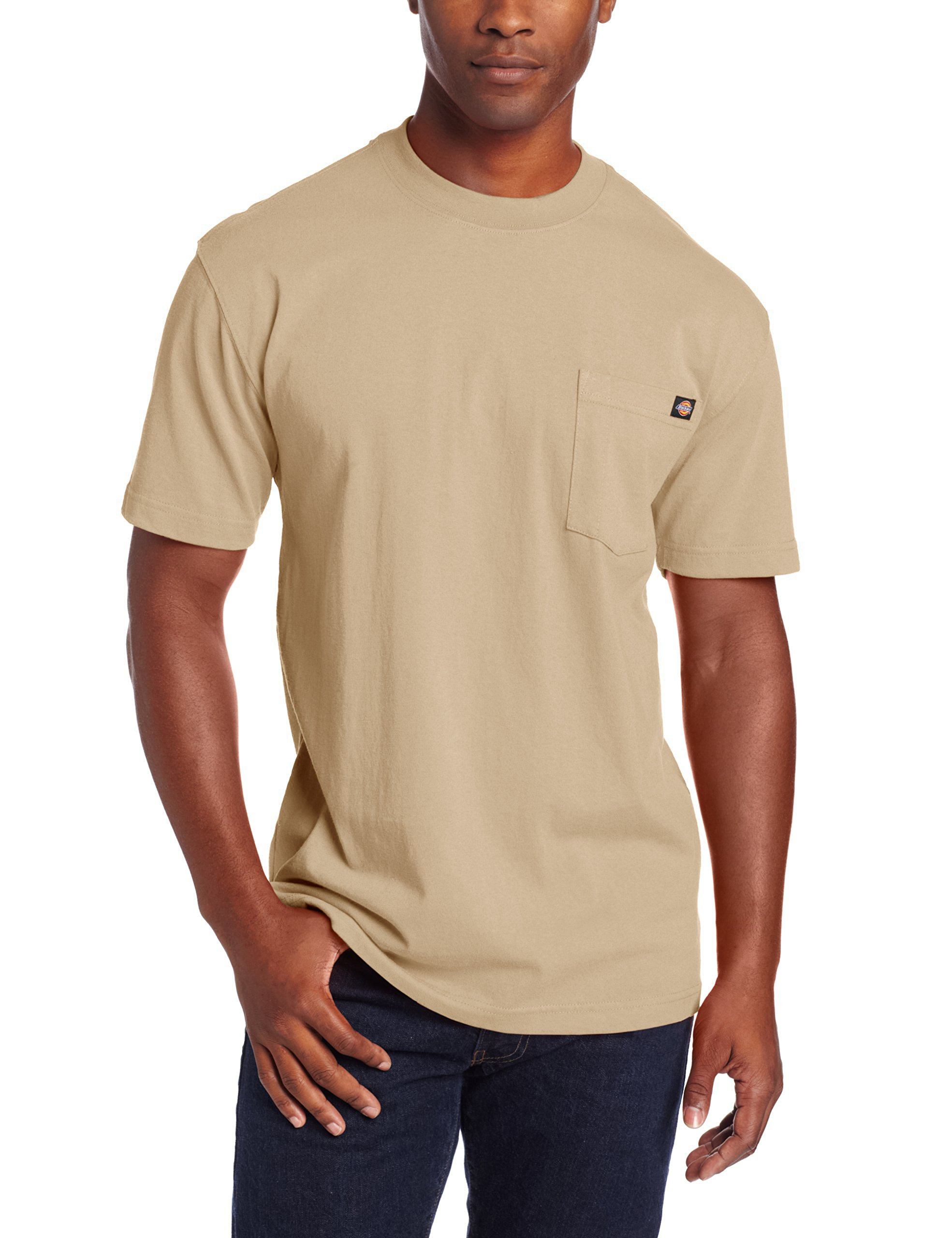 Dickie's Men's Heavyweight Crew Neck Short Sleeve Tee Big-tall,Desert Sand,2X-Large Tall