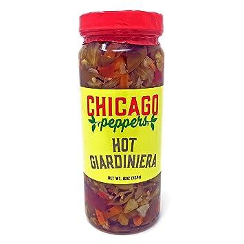 Amazon Com Chicago Peppers Hot Giardiniera 16oz Grocery